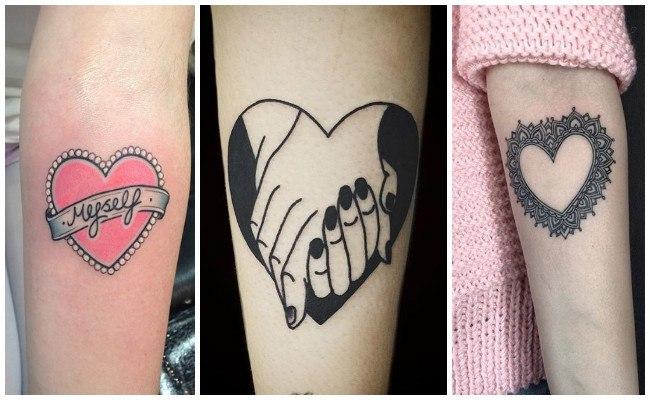 Tatuajes de corazones con llaves