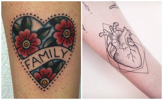 Tatuajes de corazones con rosas