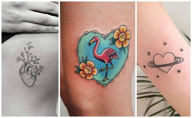 Tatuajes de corazones en el hombro