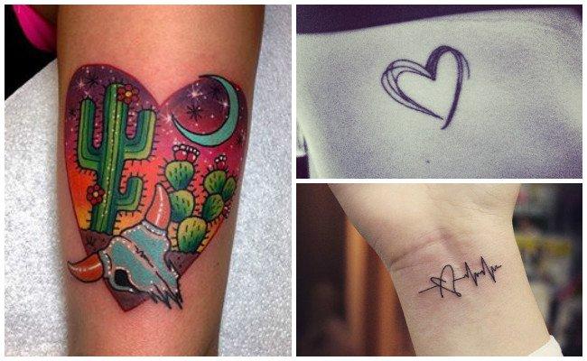 Tatuajes de corazones en la mano