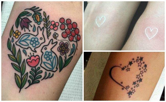 Tatuajes de corazones en el pecho