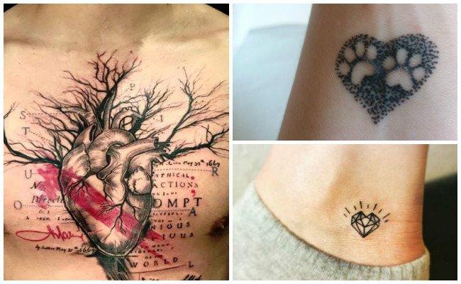 Tatuajes de corazones humanos