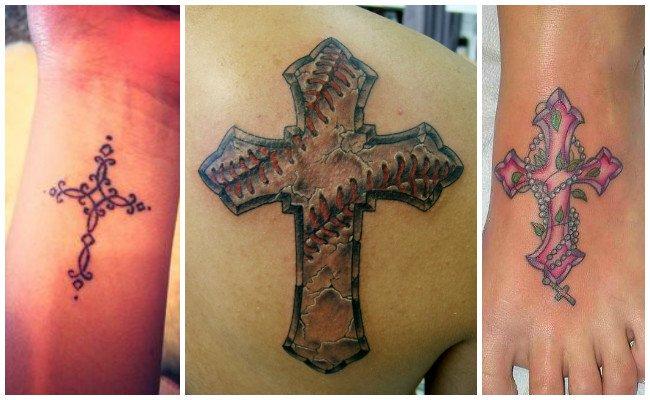 Tatuajes de cruces con alas