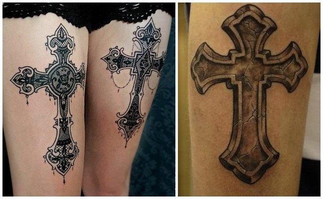 Tatuajes de cruces con nombres