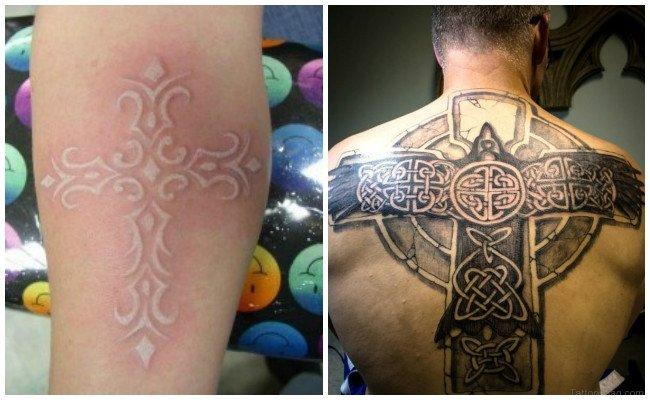 Tatuajes de cruz con rosario