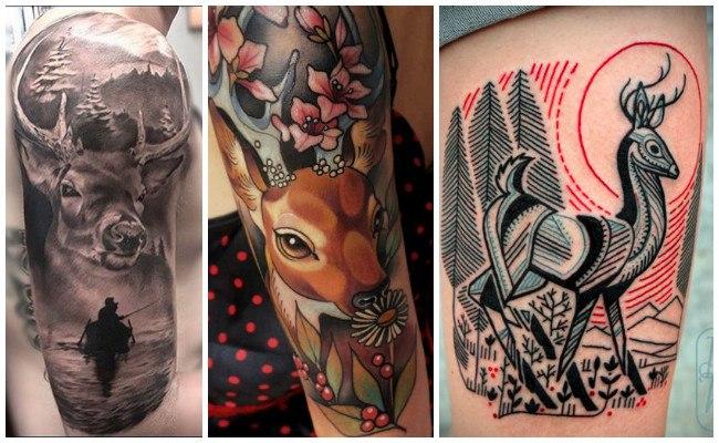 Tatuajes de cuernos de ciervo