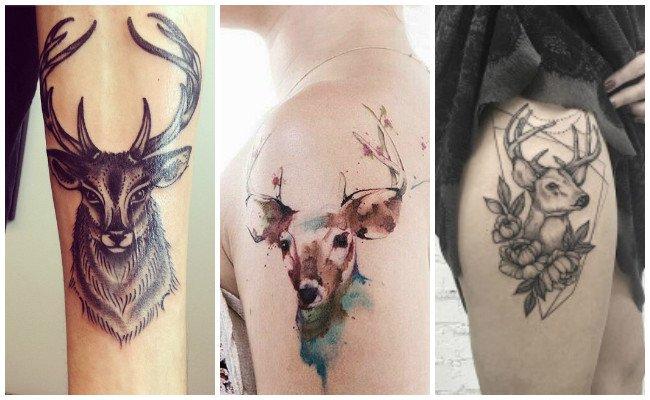 Tatuajes de cuernos de venado