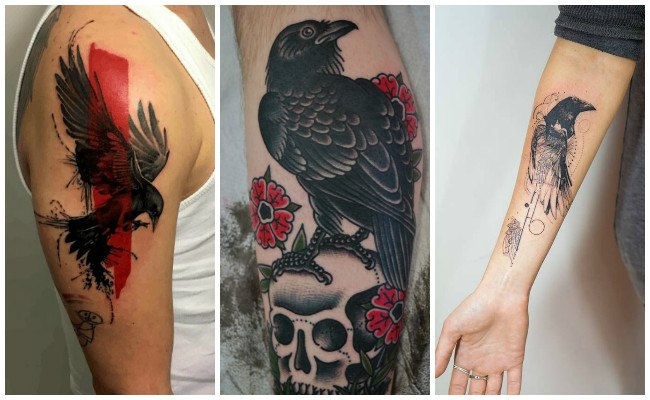 Tatuajes de cuervos grandes
