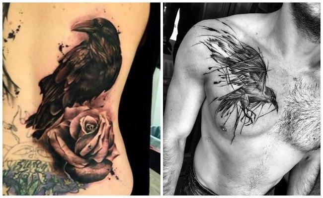 Tatuajes de cuervos negros