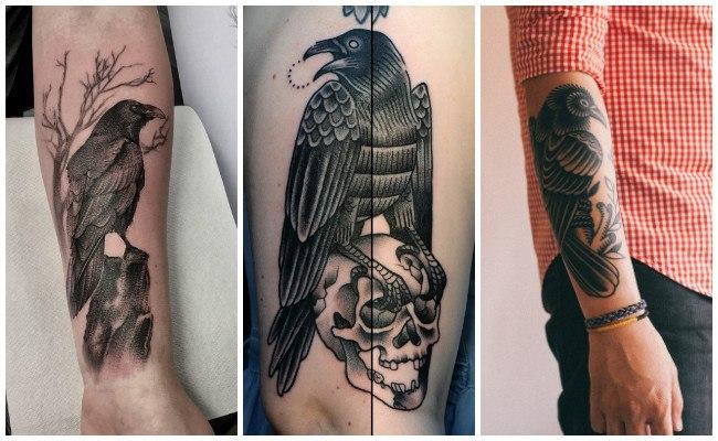 Tatuajes de cuervos para hombres