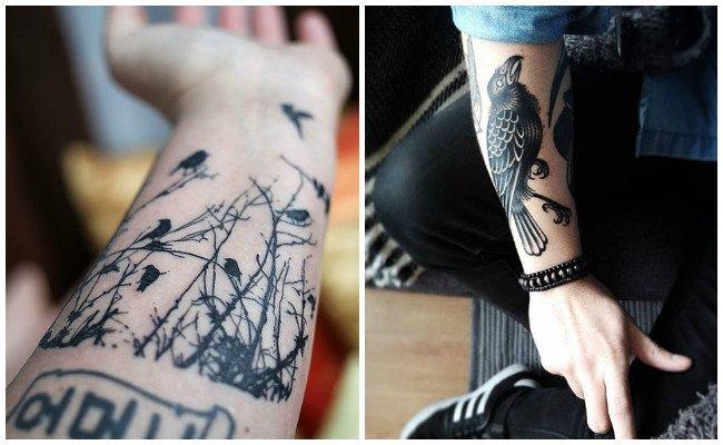 Tatuajes de cuervos pequeños