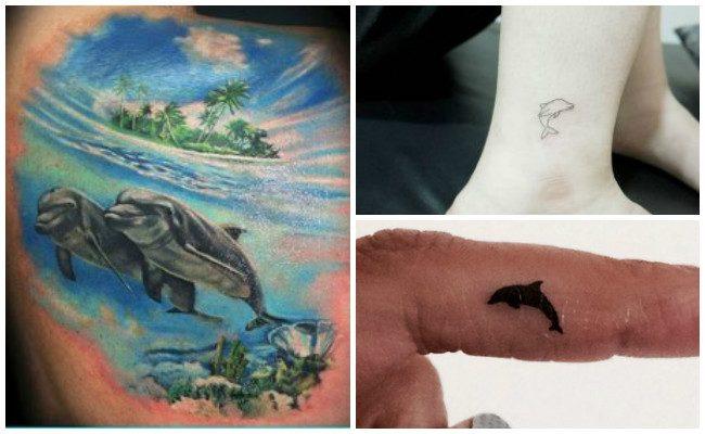 Tatuajes de delfines en la muñeca