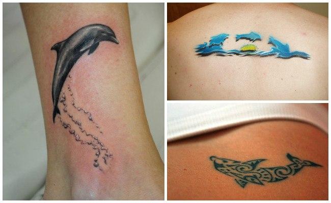 Tatuajes de delfines para mujer