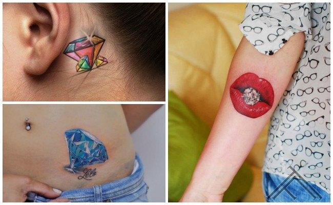 Tatuajes de diamantes pequeños