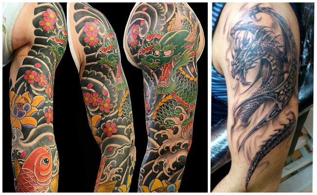 Tatuajes de dragones en 3d