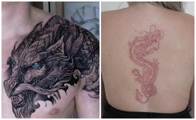 Tatuajes de dragones para el brazo