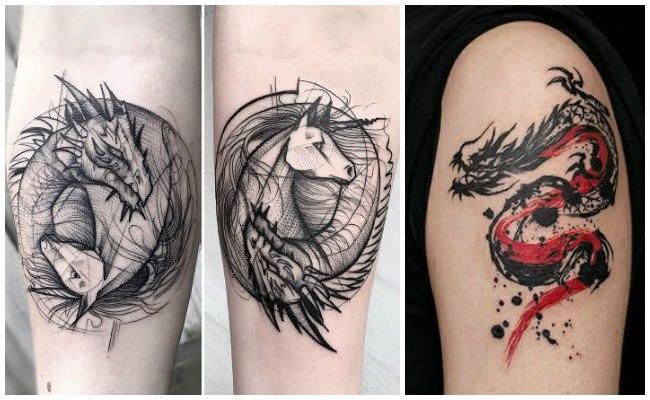 Tatuajes de dragones para dibujar