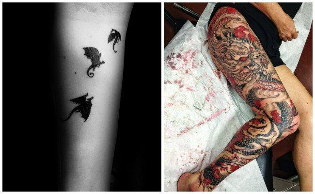 Tatuajes de dragones para mujeres