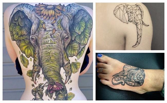 Tatuajes de elefantes de la fortuna