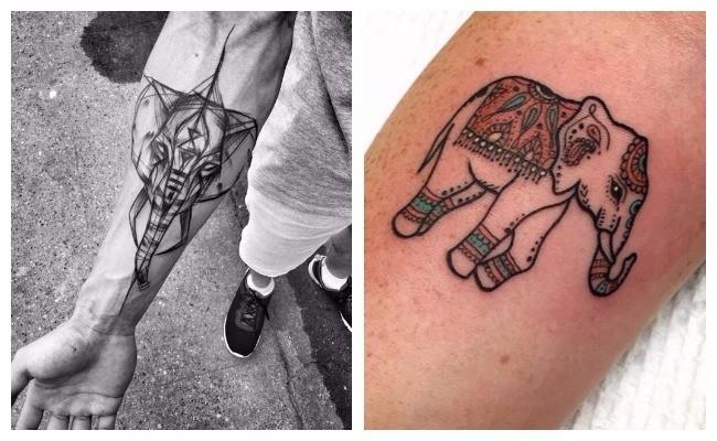 Tatuajes de elefantes asiaticos