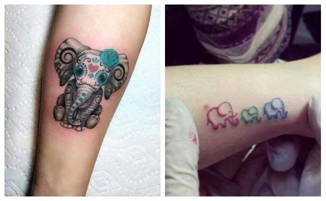 Tatuajes de elefantes bebes