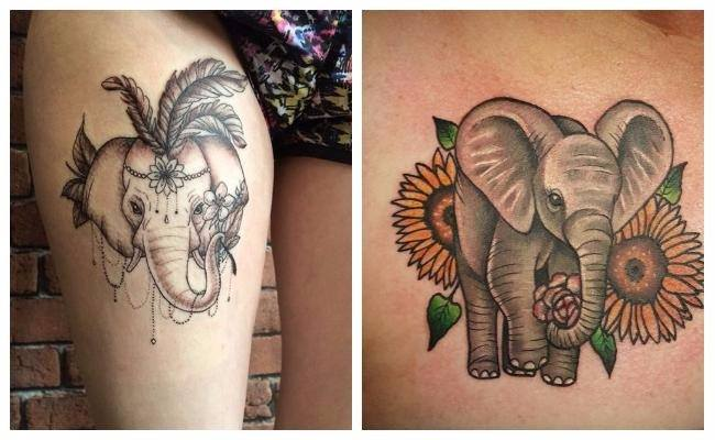 Tatuajes de elefantes blancos