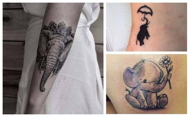 Tatuajes de elefantes chiquitos