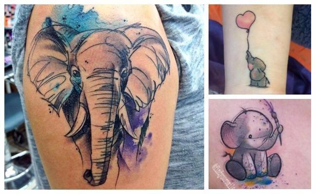Tatuajes de elefantes de la suerte