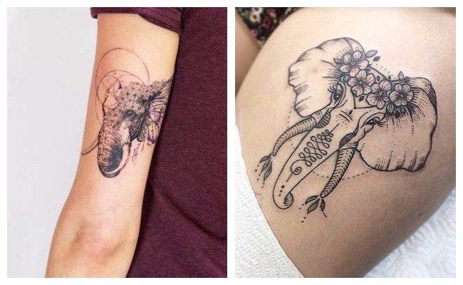 Tatuajes de elefantes en el brazo
