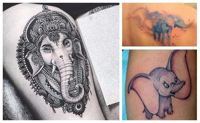 Tatuajes de elefantes Ganesh