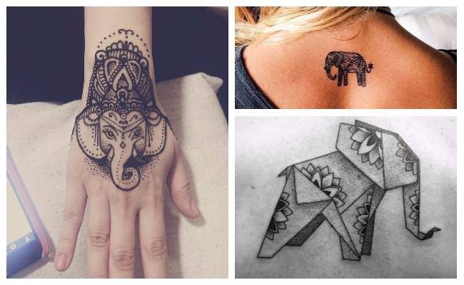Tatuajes de elefantes indios significado