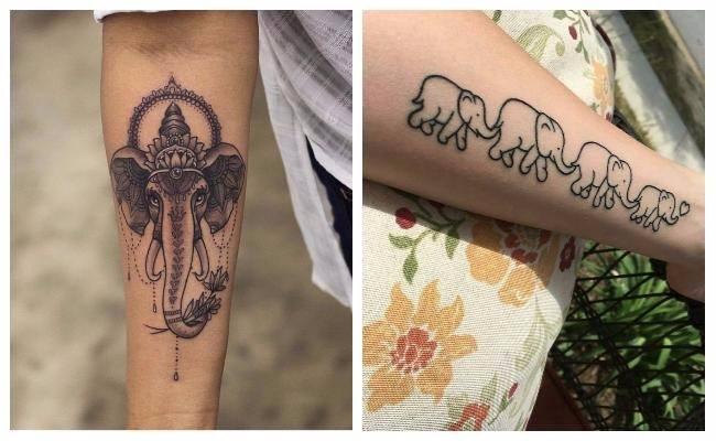 Tatuajes de elefantes indios