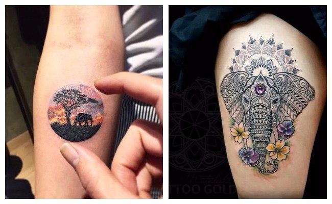 Tatuajes de elefantes mandala