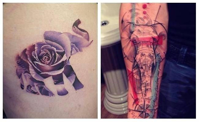Tatuajes de elefantes para mujeres