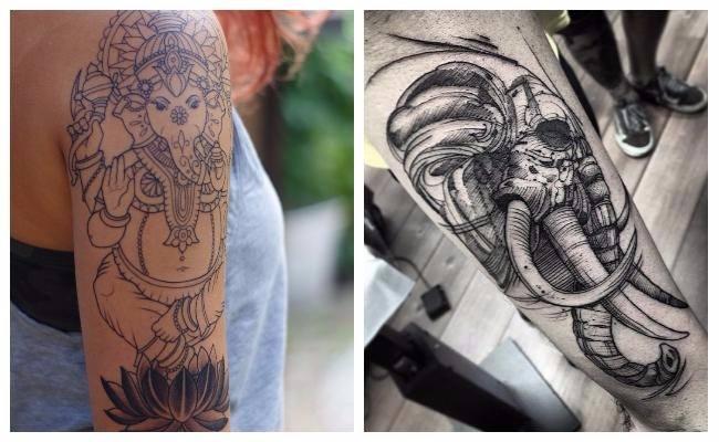 Tatuajes de elefantes realistas