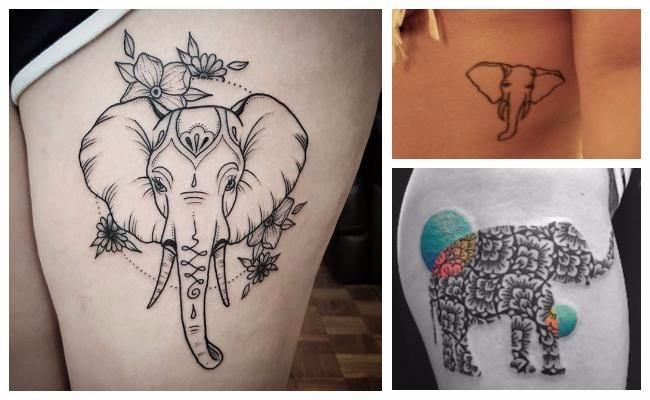 Ideas de tatuajes de elefantes, significados y diseños