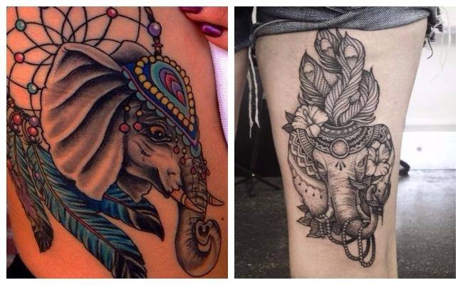 Tatuajes de elefantes tailandeses