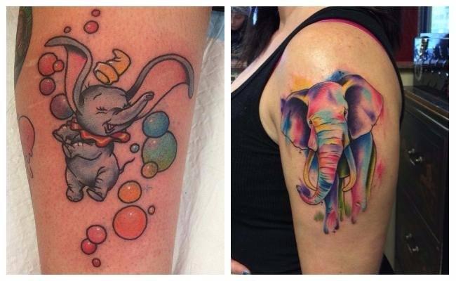 Tatuajes de elefantes tiernos