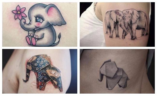 Tatuajes de elefantes originales