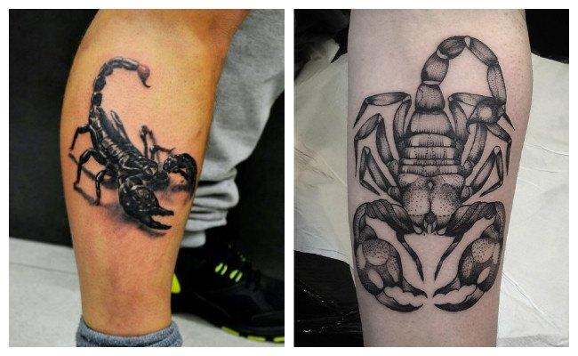 Tatuajes de escorpiones en la espalda