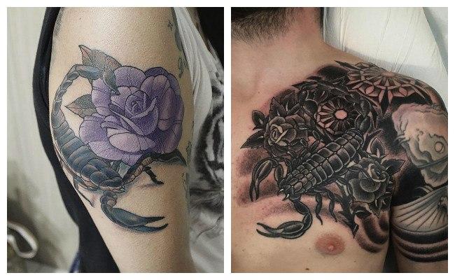 Tatuajes de escorpiones en forma tribal