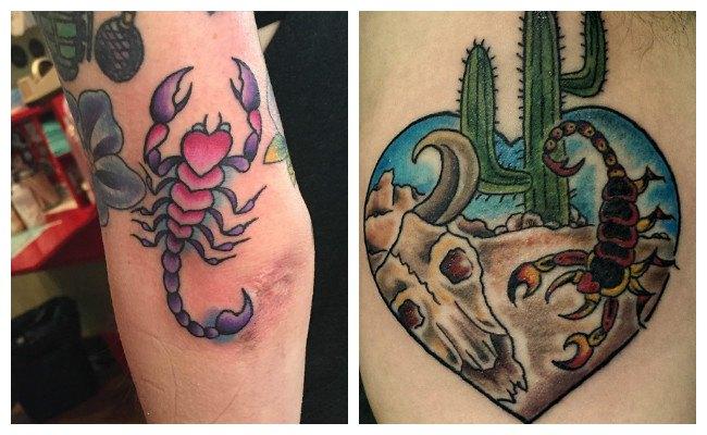 Tatuajes de escorpiones góticos