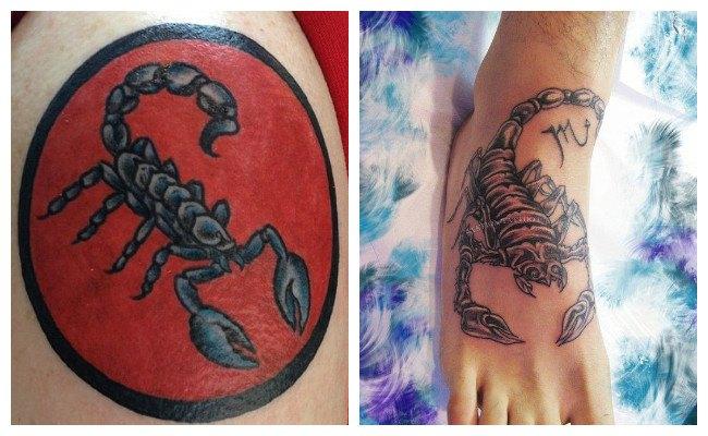 Tatuajes de escorpiones para hombres