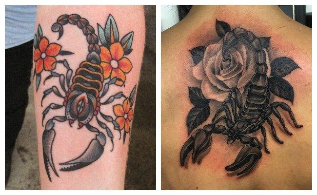 Tatuajes de escorpiones pequeños