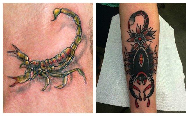 Tatuajes de escorpiones en el pie