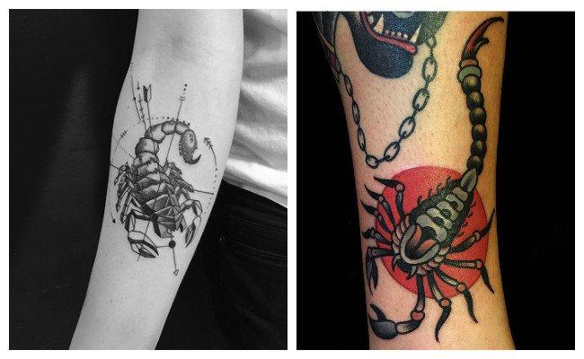Tatuajes de escorpiones simples