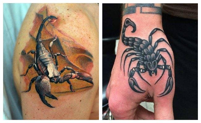Tatuajes de escorpiones en el vientre