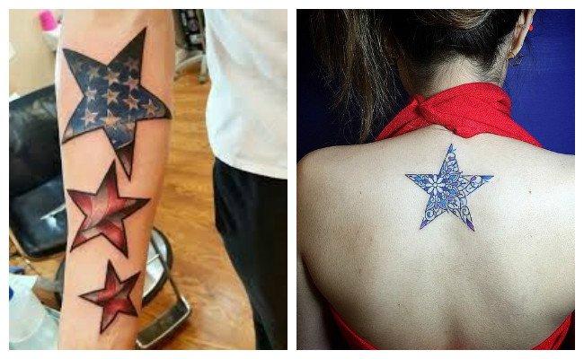 Tatuajes de estrellas azules