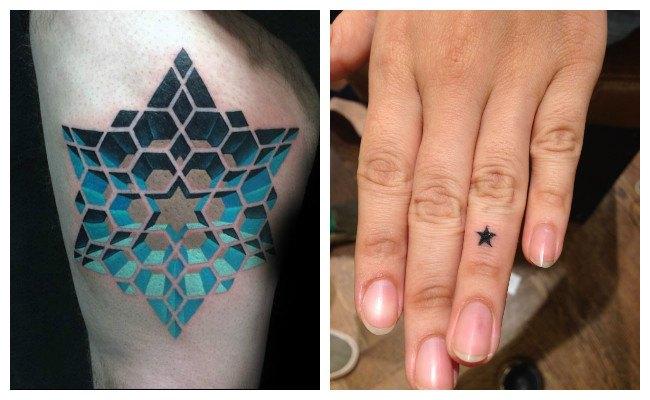 Tatuajes de estrellas en 3d