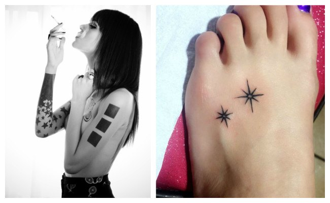 Tatuajes de estrellas de ocho puntas